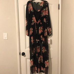 NWT The Edit by Seventeen Flower Romper